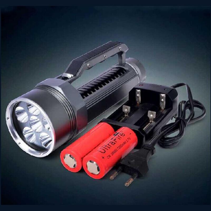 WasaFire Новый 9000 люмен Подводное 6 x светодио дный L2 светодиодный Дайвинг фонарик факел Подводный Свет 26650 фонарь лампа для подводной охоты
