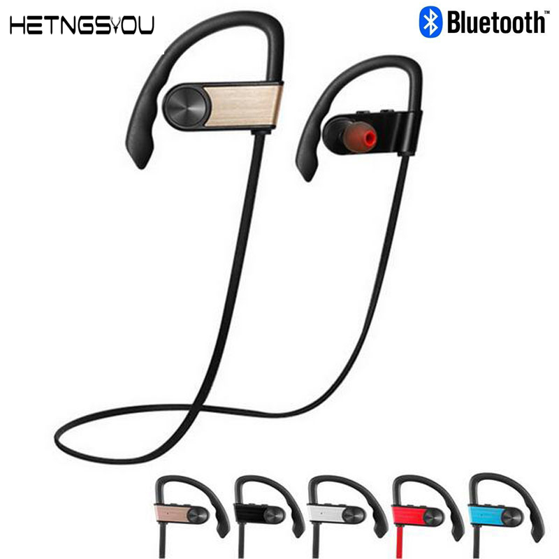 HETNGSYOU Sports Bluetooth Headset Wireless 4.0 in Ear Stereo Earbuds Good Sound  Earphone With Microphone For iphone7/6S phone  hjcf b1 sports wireless bluetooth earphone wireless headset earbuds earphones with microphone in ear for iphone smartphones