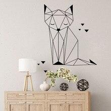 Geometric Fox Origami Cat Triangles Wall Sticker Nursery Kids Cartoon Jungle Animal Decal Bedroom Vinyl Home Decor
