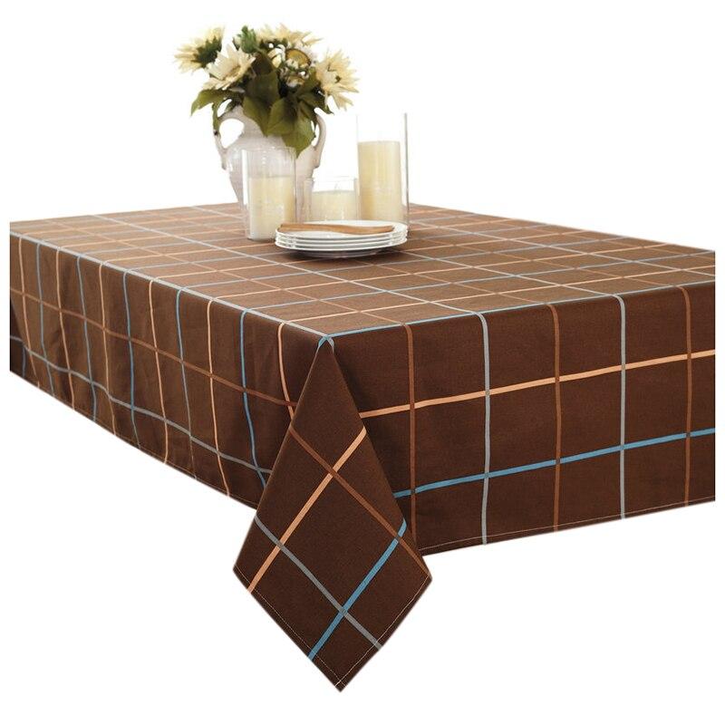Европейский Классическая холст ткань стол скатерть, скатерть кофе решетки серии дома