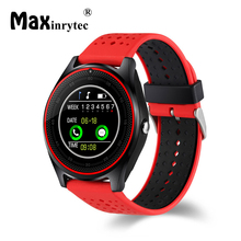 Maxinrytec V9 Smart Watch with Camera Bluetooth Smartwatch SIM Card Wristwatch for Android Phone Wearable Device pk dz09 A1 gt08
