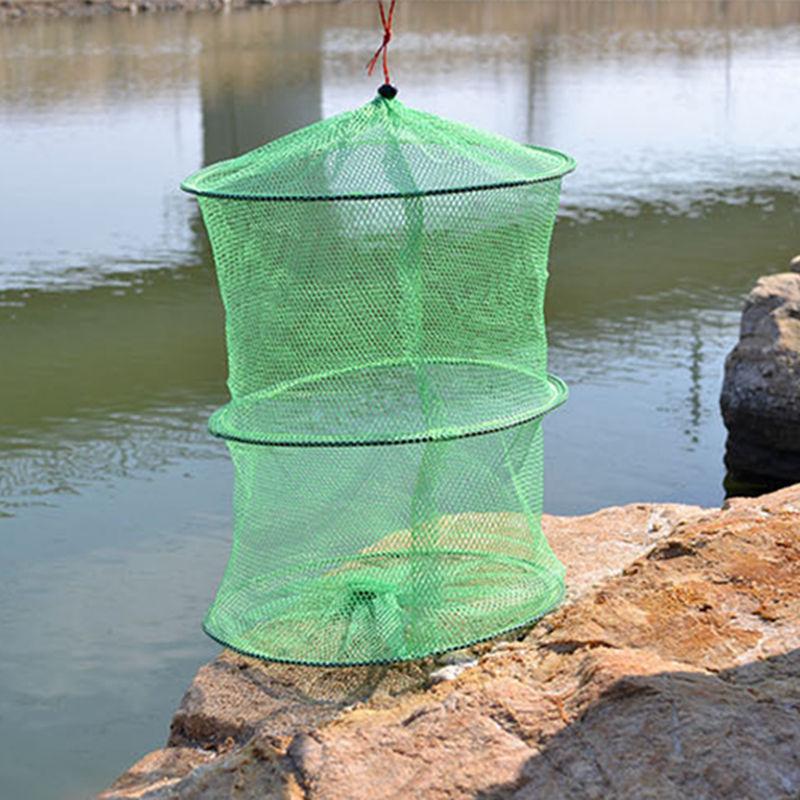 Plástico Marcos 2 secciones plegable Pesca Gear Fish Trap mantenga ...