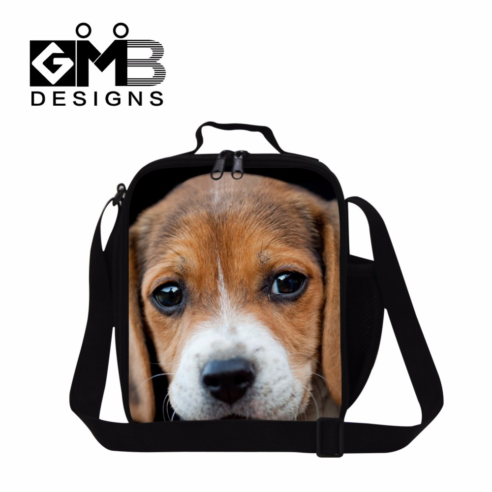 Crossbody lunch bag for Adults,Dog Lunch Container Pattern for kids school,Personalized Insulated lunch box bag for girls 3 meal