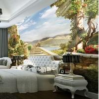 3d özel duvar diy duvar kağıdı marka tasarımcı oturma odası tv arka plan yatak odası avrupa tarzı çiçek manzara duvar kağıtları 249
