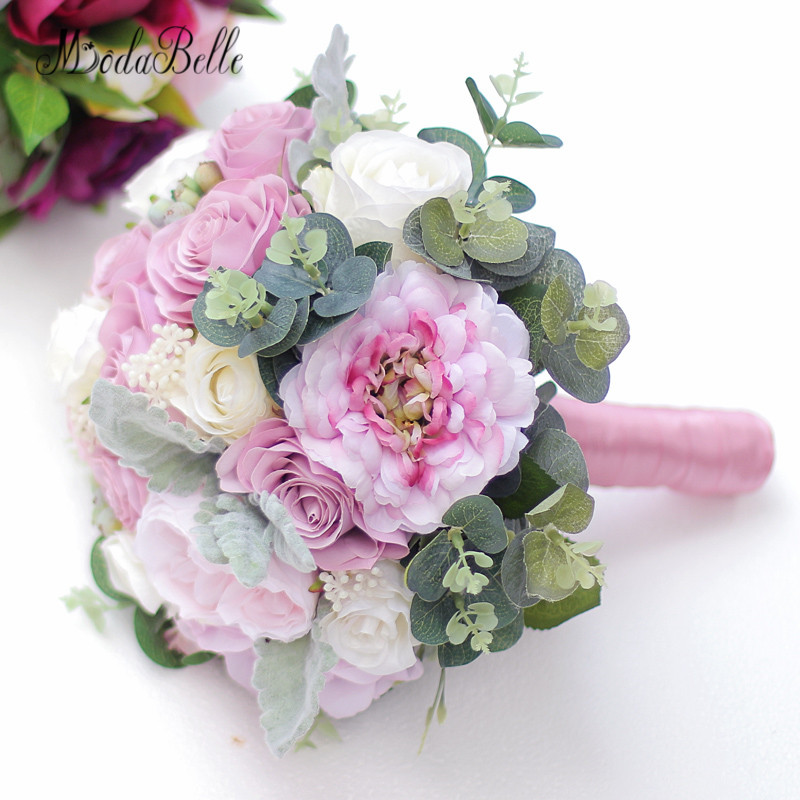 Silk Flower Wedding Bouquets For Sale: Modabelle Dusty Pink Wedding Bouquet For Sale 2018 New