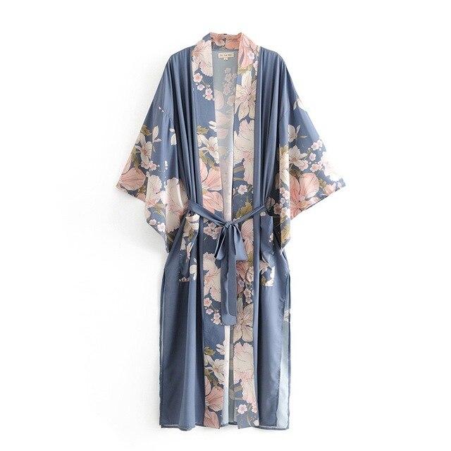 Flower Print Kimono Shirt  3