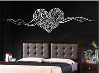 Heart Islamic Pattern Removable Vinyl Wall Sticker Art Decal Home Decor Mural 63X57CM