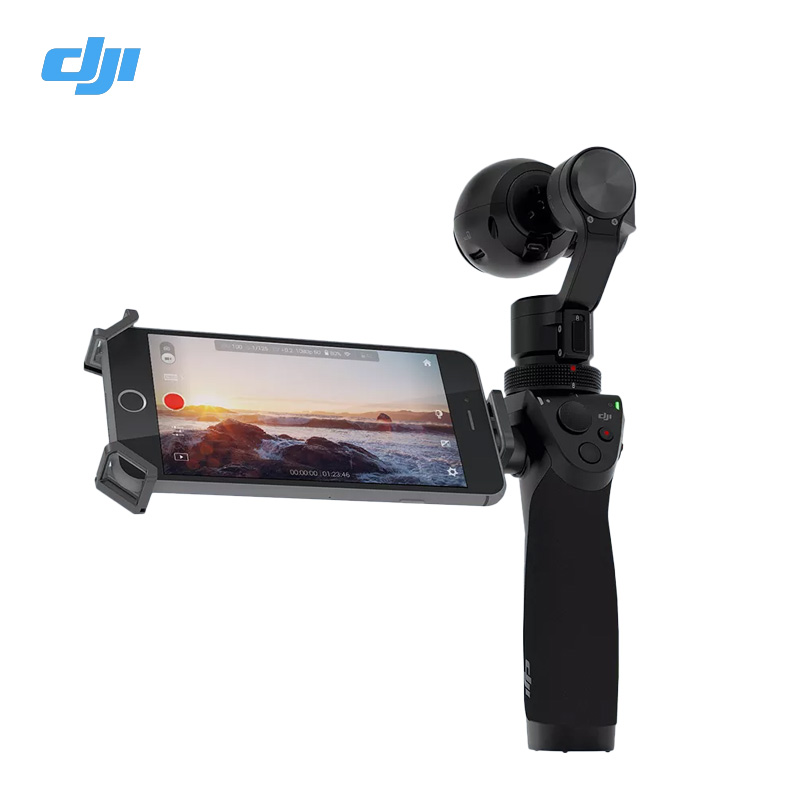 Free Gifts DJI OSMO 3-Axis Handheld 4K Camera With DJI FM-15 Flexi Microphone Stabilizer phantom 3 3-Axis Gimbal DHL EMS Free