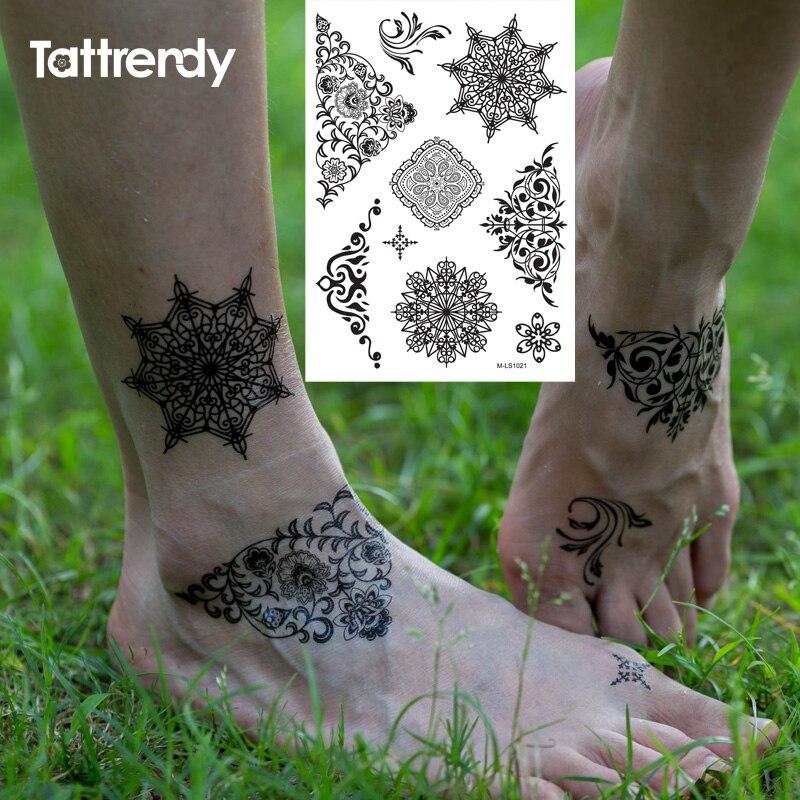 Black Henna Tattoo Designs: New Indian Arabic Black Henna Tattoo Paste Lace Designs
