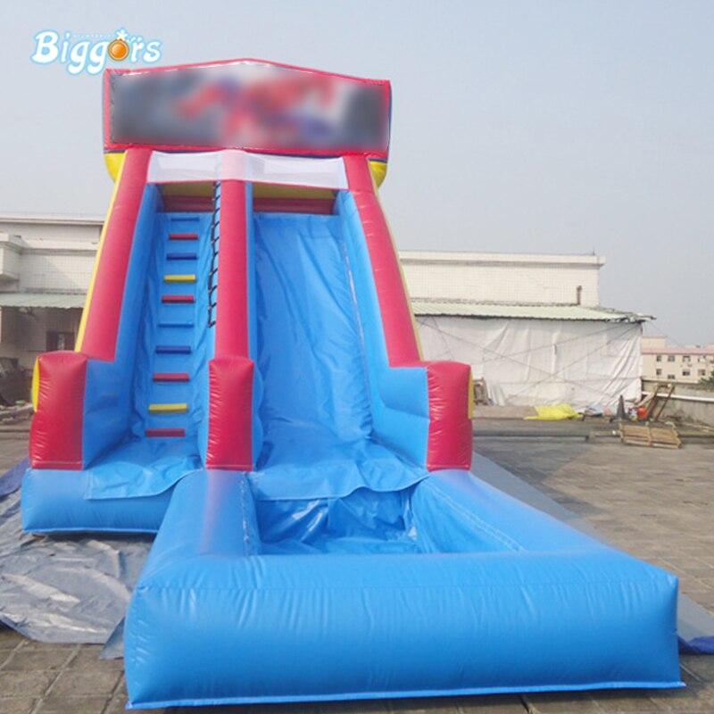 Glissière gonflable de PVC de catégorie commerciale avec la glissière gonflable de bâche de glissière d'eau de piscine