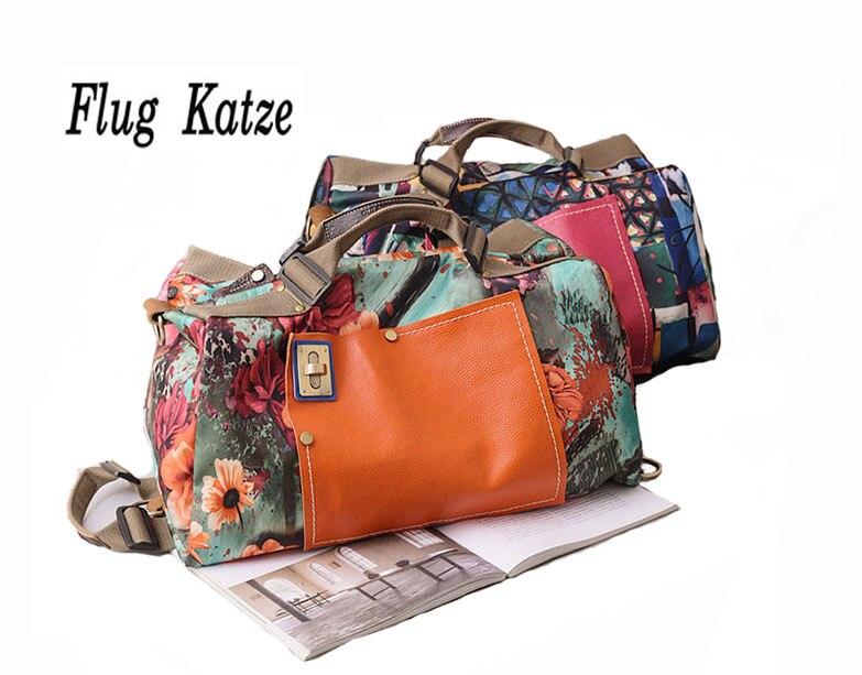 Flug katze Women luggage Trolley on wheels Travel Trolley Bag for Women Rolling Travel Bag Baggage Suitcase Travel Duffle