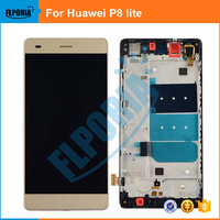 FLPORIA 1PCS For Huawei P8lite P8 LITE LCD Display TouchScreen Digitizer With Frame Full Assembly Replacement