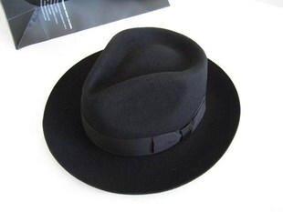 Image 2 - Wool Fedora Hat Derby Fedoras Cap Felt Billycock Hats Winter Fashion Bowler Headwear Wool Fedora Trilby Hats Man's Cap  B 8130-in Women's Fedoras from Apparel Accessories