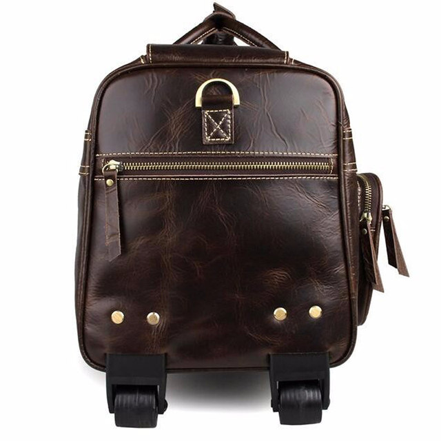 20e4ea11b63 Online Shop Carry-On Luggage, Wheeled Travel Duffle Bag For great fit 93b2a  22c97  ANAPH Unisex Rolling LuggageCalfskin Leather Airplane Suitcase ...