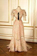 Resort dress worn by Empress Elisabeth of Austria Medieval Clothing Victorian dress satin dress