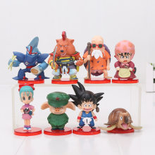 8pcs/set Anime Dragon Ball Z figure Deformation chichi Son goku Master Roshi Gogeta Gotenks oolong Action Figure toy model(China)