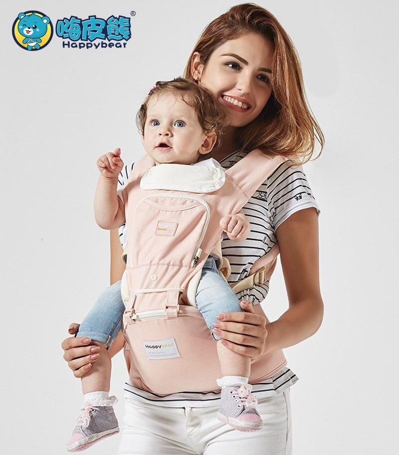 купить HappyBear 0-36 Months Multifunction Baby Carrier Ergonomic Kangaroo Sling baby Backpack New Born Baby Carriage Hipseat недорого