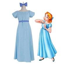 Film Peter Pan Wendy Rachael Cosplay Costume Party Dress Women Long New