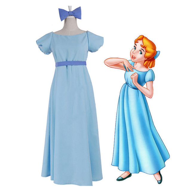c6643c0a8a10a US $25.16 26% OFF|Film Peter Pan Wendy Rachael Cosplay Costume Party Dress  Women Long Dress New-in Movie & TV costumes from Novelty & Special Use on  ...