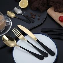 Creative Stainless Steel Tableware Knife Fork Spoon Cutlery set Steak knife Fruit Dessert Coffee