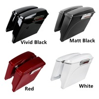Motorcycle ABS 5 Stretched Extended Hard Saddlebags w/ Lids For Harley Touring Road King Models FLHX FLH 1993 2013