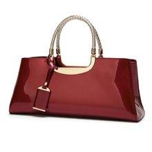 Arsmundi Luxury Handbags Women Bags Designer Fashion Patent Leather Elegant Hand Shoulder Wedding Bridal Bag Banquet Bolsa