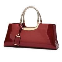 Arsmundi Luxury Handbags Women Bags Designer Fashion Patent Leather Elegant Hand Bags Shoulder Wedding Bridal Bag Banquet Bolsa