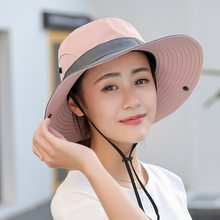Adisputent Unisex Summer Mesh Sun Hats Wide Brim Women Breathable Sunhat Outdoor UV Protection Top Bucket Hats Fishing(China)