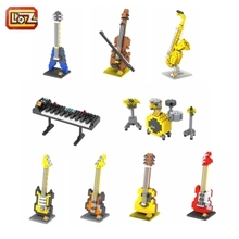 LOZ Diamond Building Blocks 9pcs Musical Instruments Bricks Sets Action Figure 3D Bricks Toys No Original Box