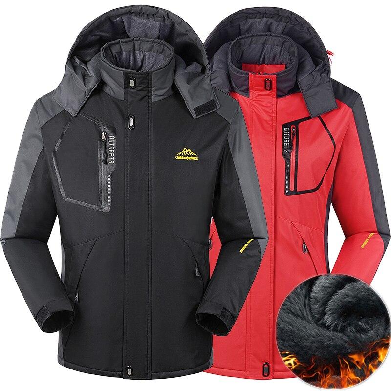 461d189d88af5 Winter men women jacket thermal coats for men Down Parkas Windbreaker male  Velvet jackets sportswear Waterproof