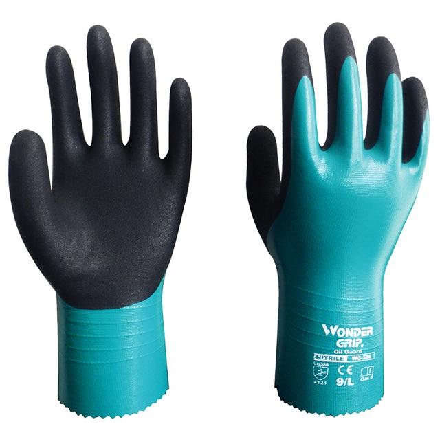 Water Proof 2 Pairs 100% Nylon Micro Foam Nitril Maxi Hoge Flex Waterdichte Olie Zuur Base Chemische Slip Veiligheid Werk handschoenen