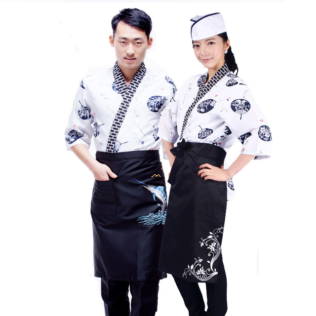 08ccf821c0 2017 new Japanese chef uniform cook jackets Japan chef uniform Japanese  sushi women and man wear chef Servic work wear