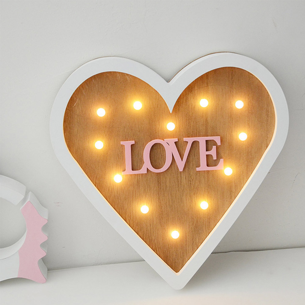 Valentine's Day 3D Marquee LOVE Letter LED Lights Romantic Wall Lamps Night Light Home Party Wedding Decor Girl Gifts P20
