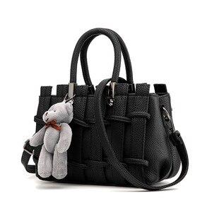 Image 4 - をモネcauthy女性のバッグ簡潔な甘い女性レジャーファッションクロスボディトートバッグ無地ラベンダーピンクグレーブラックホワイトハンドバッグ