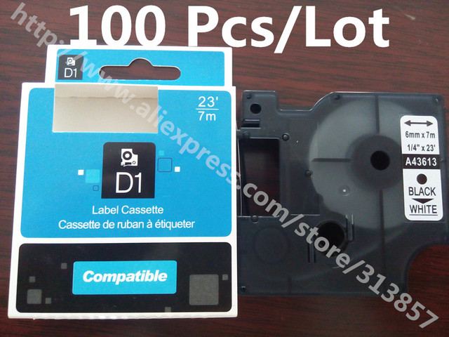 Free shipping ink cartridges Label Printer Cassette label tape 43613 ...