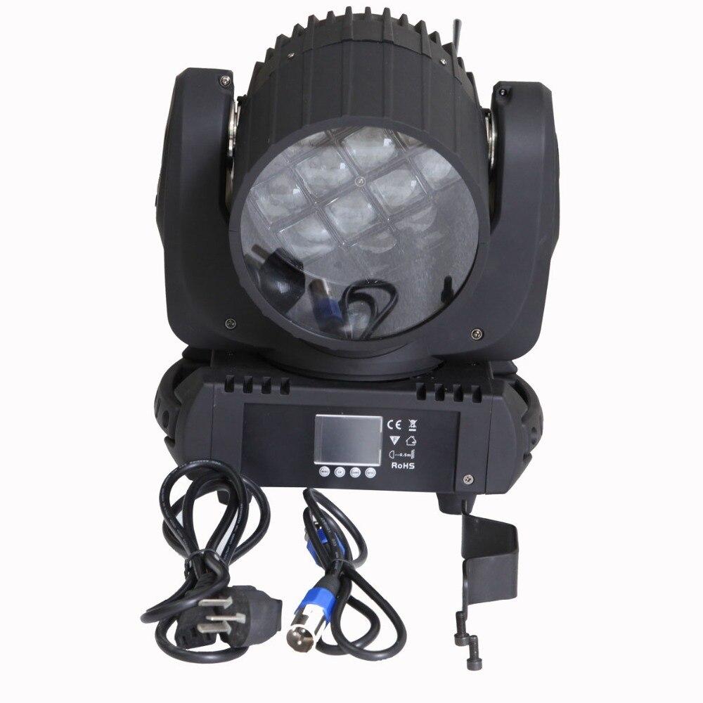 DHL12x10W 4IN1 RGBW светодиодный волшебный цветок перемещение головы шаблон луч света месте Гобо проектор этап Wash диско профессиональное освещение