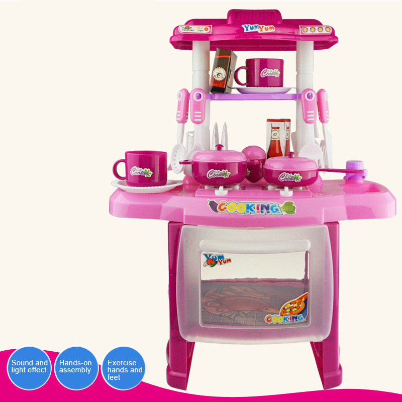 Children Cute Kitchen Cooking Toy Kit DIY Mini Food Toys Pretend Play House Mini