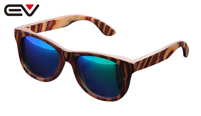 Women Natural Wood Frame Sunglasses NEW Multicolored wood Sun glasses Gafas de sol de madera Oculos de sol da Madeira EV0917