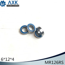 MR126RS Bearing ABEC-3 (10PCS) 6x12x4 mm Miniature MR126 - 2RS RU Ball Bearings Blue Sealed For Axial SCX10 II 5316 2rs bearing 80 x 170 x 68 3 mm 1 pc axial double row angular contact 5316rs 3316 2rs 3056316 ball bearings