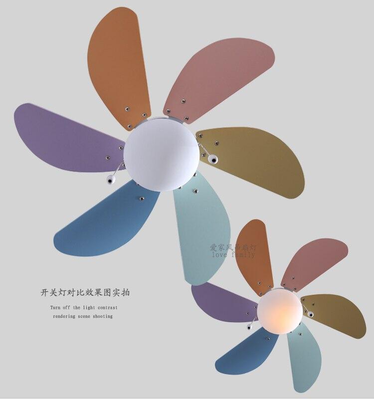 Children fan lamp ceiling fan lamp simple fashion fan chandelier bedroom dining room LED ceiling fan FS23