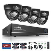 SANNCE CCTV System 4CH TVL 720P AHD Security Camera System 4 Channels Video Surveillance Kit 1TB