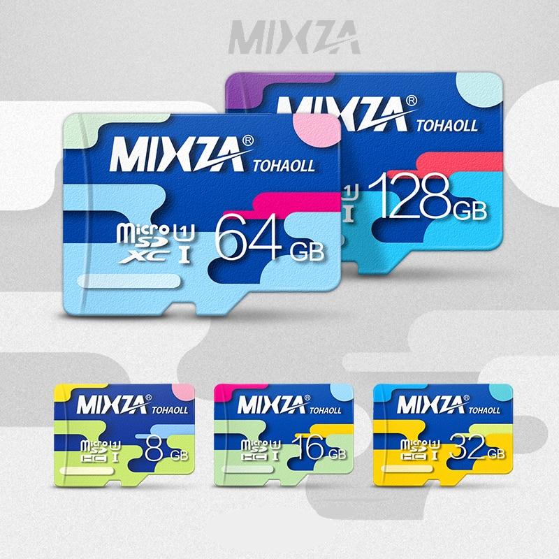 MIXZA Deuxième génération carte mémoire 128 GB 64 GB 32 GB 16 GB UHS-1 micro sd carte class10 flash carte pour Tablette/Téléphone Intelligent/Caméra