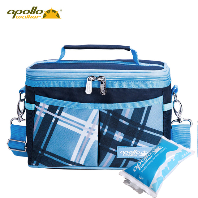 apollo cooler bag 6L Small Thicken Folding Fresh Keeping Waterproof Aluminum Foil Lunch Bag Insulation Thermal Bag  Ice Pack