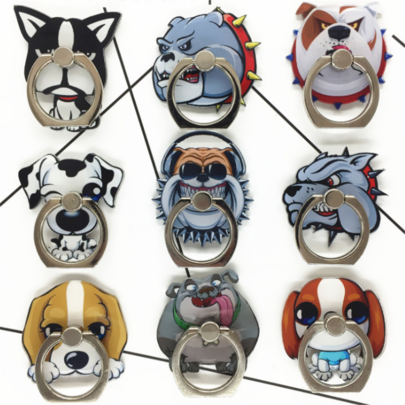 UVR Mobile Phone Stand Holder Husky Dog Sheepdog Finger Ring Mobile Smartphone Holder Stand For IPhone Xiaomi Huawei All Phone