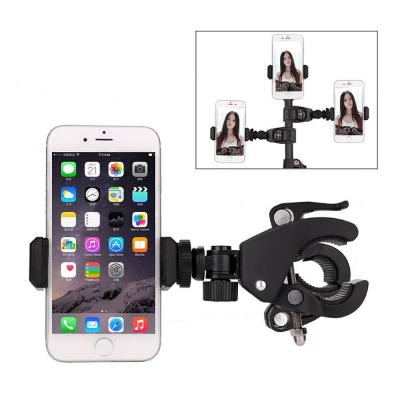 360 Degree Rotation Universal Mobile Phone Mount Holder Stand Tripod Monopod Clamp Clip for Webcam Live Video Chat Take Photos