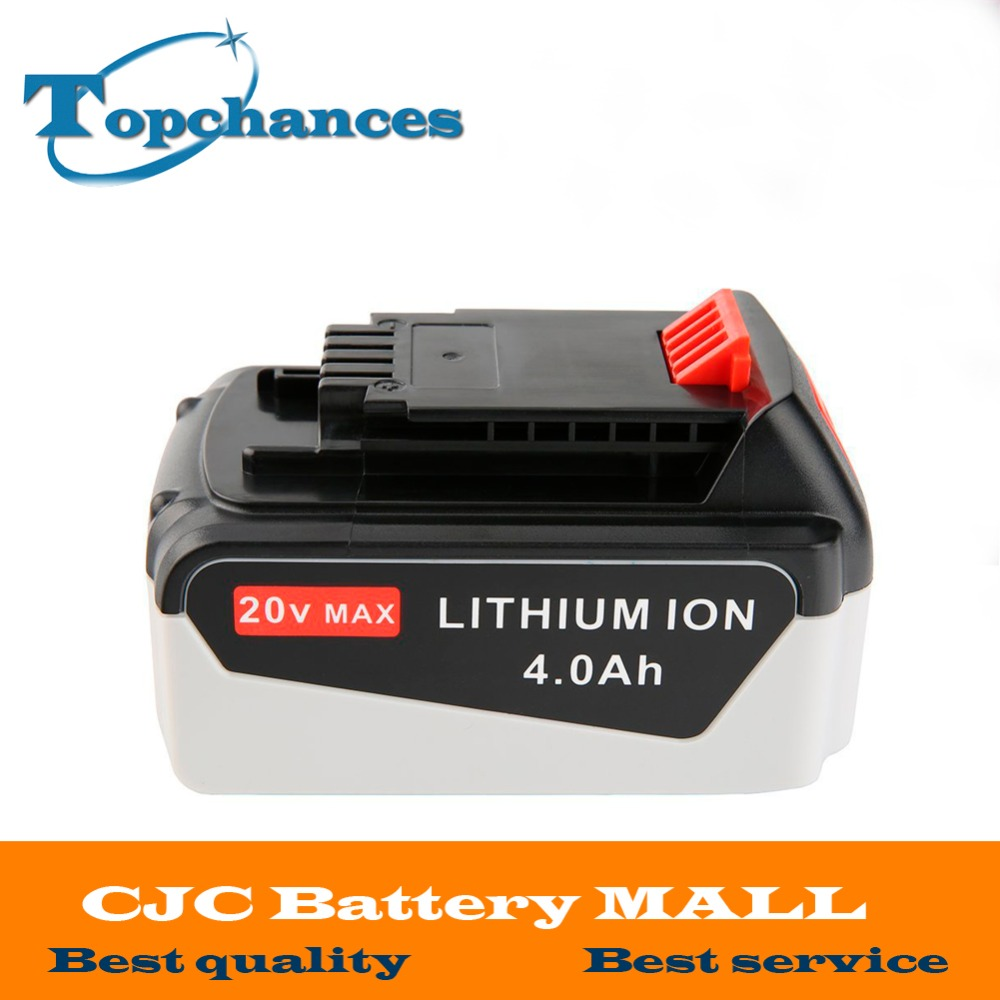 High Quality 20V 4000mAh Li-ion Rechargeable Power Tool Replacement Battery for BLACK & DECKER LB20 LBX20 LBXR20 LB2X4020-OPE high quality 20v 2000mah li ion rechargeable battery power tool replacement battery for black