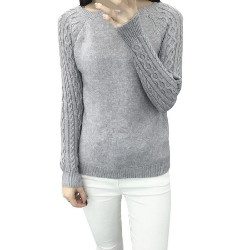 New Arrival Winter Style Elegant Womens Knitted Sweater Pullover Warm Tops Female Clothes