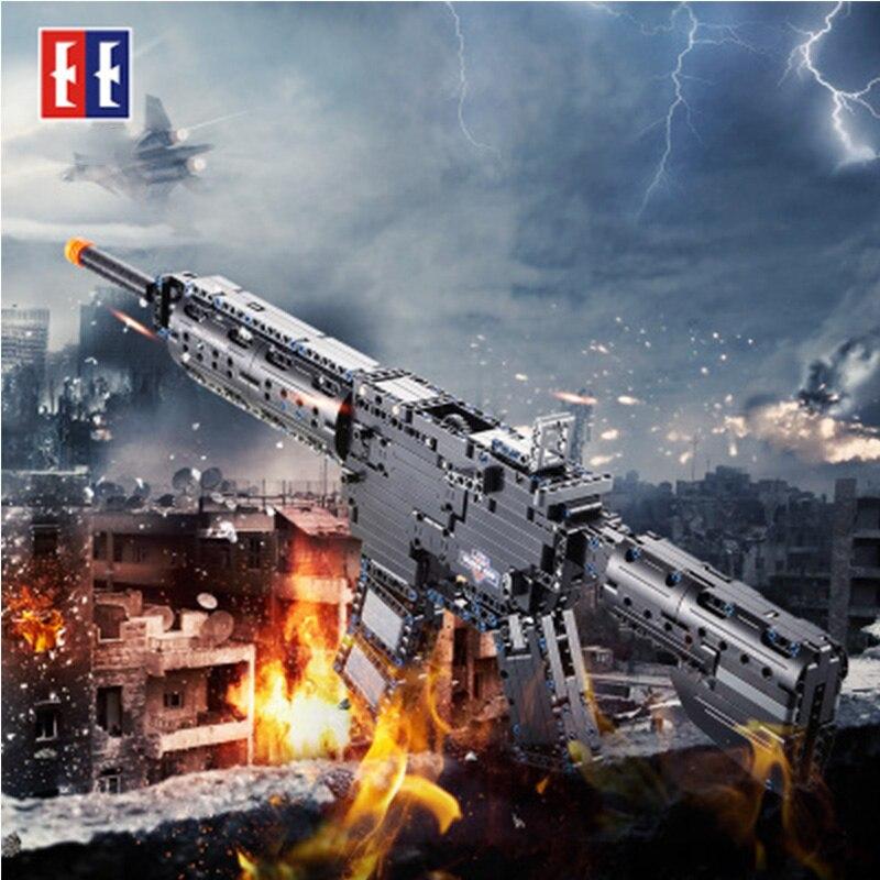 Simulation M4A1 carabines pistolets PUBG CS GO militaire sous-machine technique briques de construction compatibles avec Legos jouet cadeau pour enfant