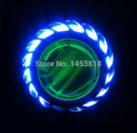13A 35w 12v 2 Inch Bi Xenon Hid Projector Motorcycle Headlight Red Yellow Blue Green White
