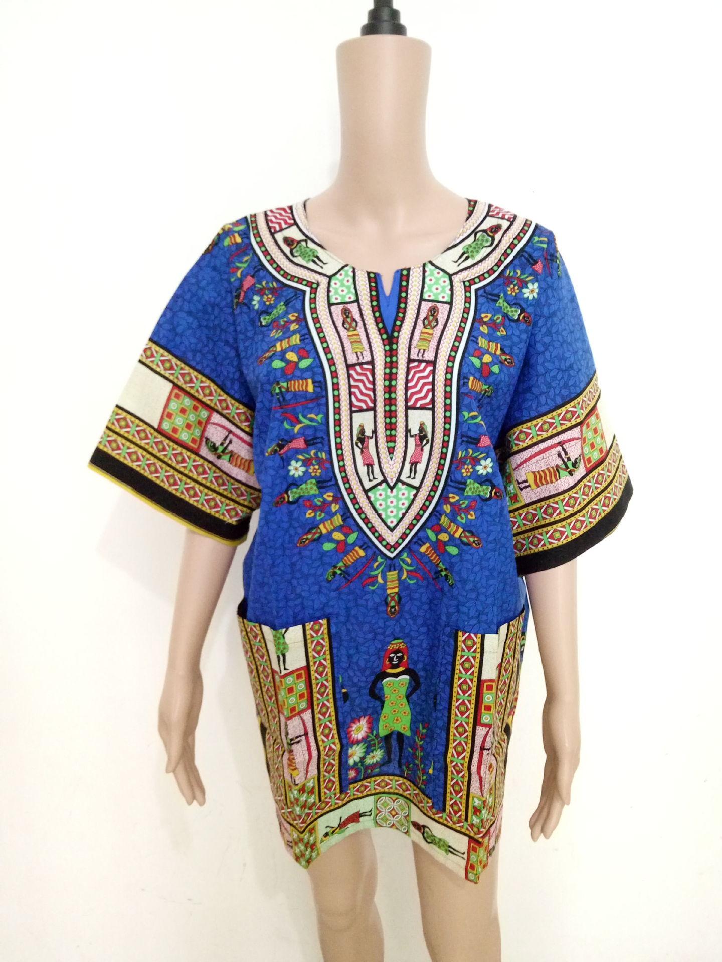 Dashikis الأفريقية للمرأة فساتين أفريقيا السيدات اللباس بازان الملابس dashiki الرجال فساتين الأفريقية للنساء حجم كبير اللباس
